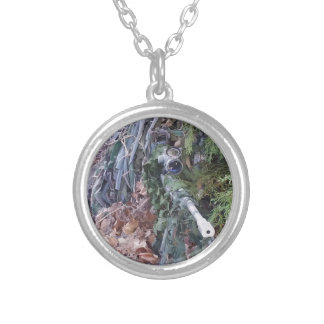 Sniper Silver Plated Necklace