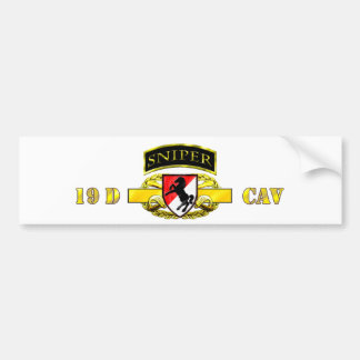 Sniper Tab 19D Cav Scout 11th Armored Cav Bumper Sticker