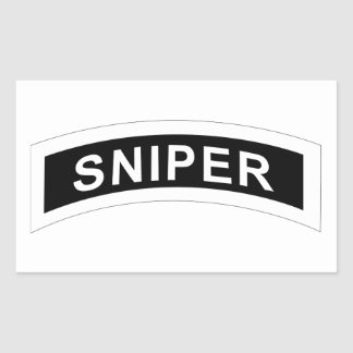 Sniper Tab - White & Black Sticker