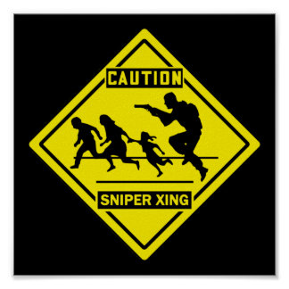 Sniper Xing - Wall / Door Sign