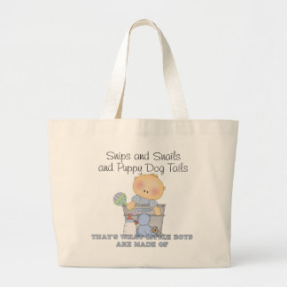 Snips and Snails and Puppy Dog Tails Diaper Bag