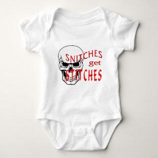 Snitches get Stitches Baby Bodysuit