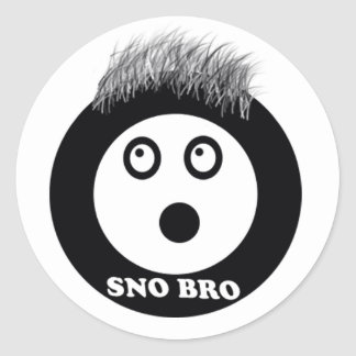 sno bro round sticker