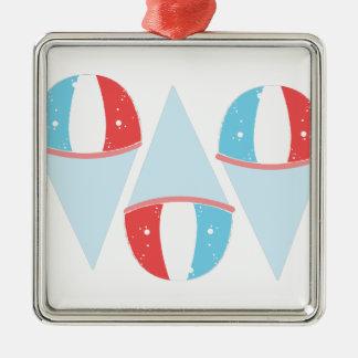 Sno Cones Silver-Colored Square Ornament
