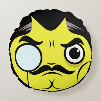 Snob Face Round Pillow