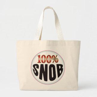 Snob Tag Large Tote Bag