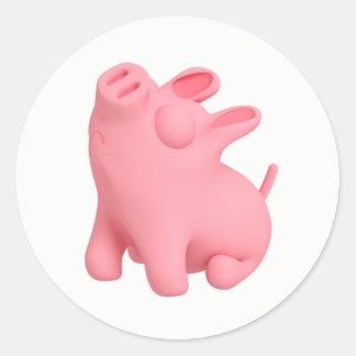Snobby Rosa Round Sticker