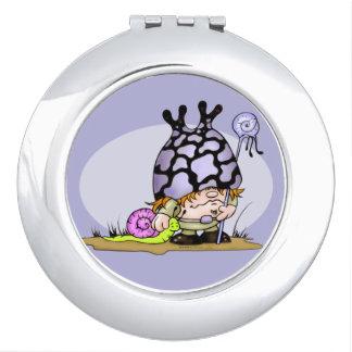 SNOG & TRIPOK CARTOON LOVE compact mirror ROUND