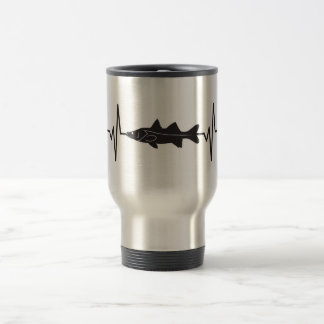 Snook Fish - Heartbeat Pulse Travel Mug