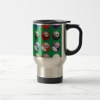 Snooker balls travel mug