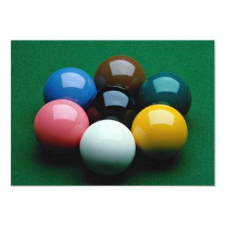 Snooker equipment custom invitation