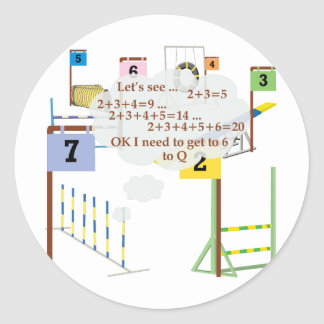 Snooker Math Classic Round Sticker