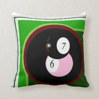 Snooker Pool Billards Throw Pillow