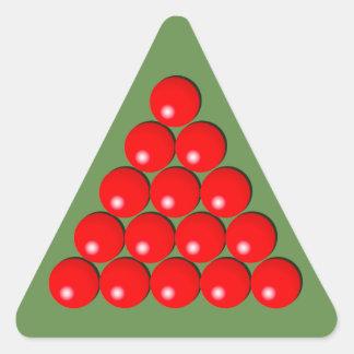 Snooker Triangle - Red Balls Triangle Sticker