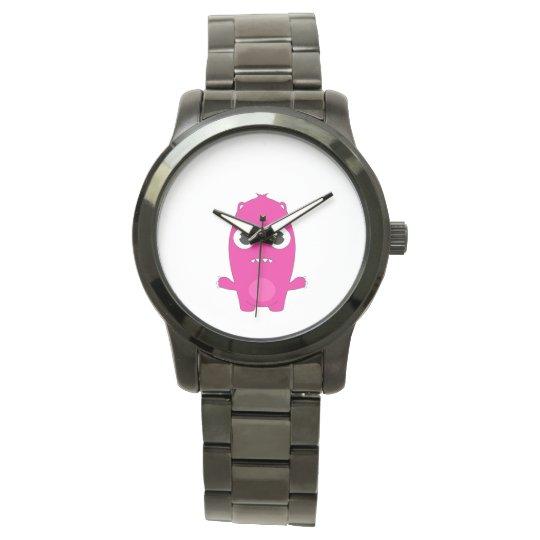 Snoomies Custom Black Vintage Leather Watch