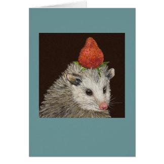 Snoop the opossum card