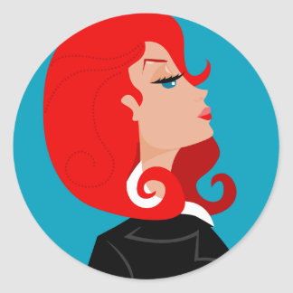 Snooty Lady Stickers