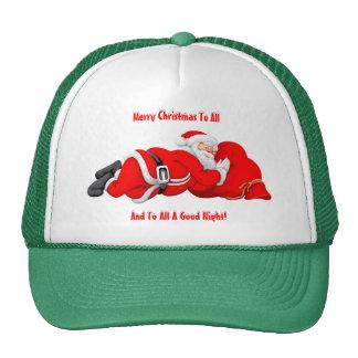Snoozing Santa Trucker Hat