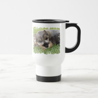 Snoozing Schnauzer Travel Mug