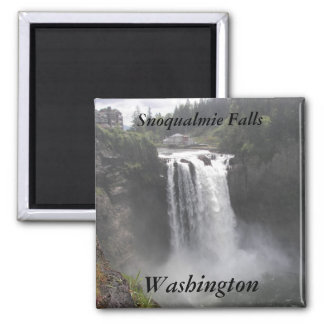 Snoqualmie Falls, Washington Travel Photo Square Magnet