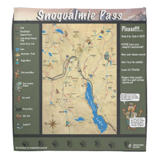 Snoqualmie pass map bandana