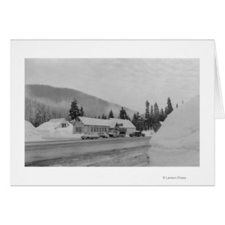 Snoqualmie, WA - Summit Inn Ski Area Photograph Card