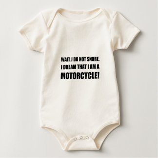 Snore Motorcycle Baby Bodysuit