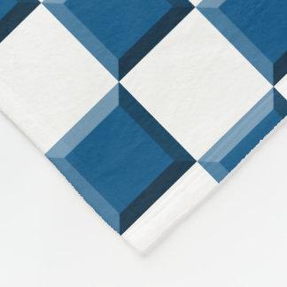 Snorkel Blue Bevel Checked Fleece Blanket
