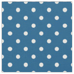 Snorkel Blue & White Polka Dot Fabric