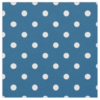 Snorkel Blue & White Polka Dot Fabric