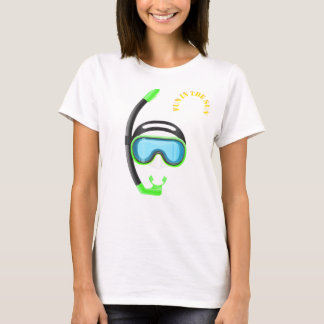 snorkel fun in the sun summer snorkelling tshirt 3