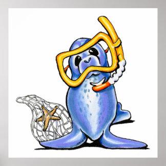 Snorkel Seal Poster
