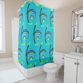 snorkel snorkeling fun bathroom shower curtain