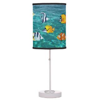 SNORKEL VACATION HOME LAMP,  TROPICAL FISH TABLE LAMP