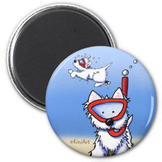 Snorkel Westie Magnet
