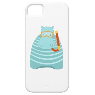 Snorkeling Hippo Cover For iPhone 5/5S