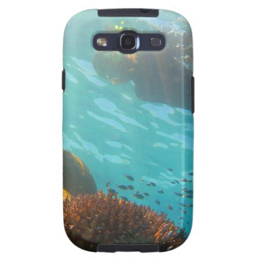Snorkeling over an underwater reef galaxy s3 covers