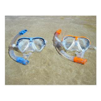 Snorkeling postcard