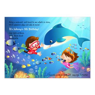 Snorkeling Tots Birthday Party Invitation