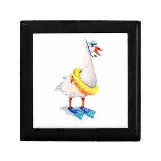 Snorkeling White Goose Gift Box