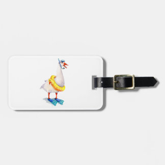 Snorkeling White Goose Luggage Tag