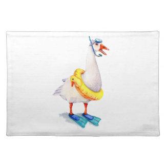 Snorkeling White Goose Placemat