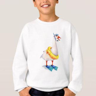 Snorkeling White Goose Sweatshirt