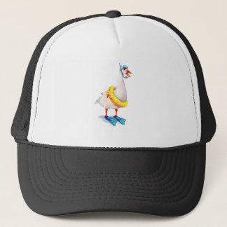 Snorkeling White Goose Trucker Hat