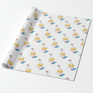 Snorkeling White Goose Wrapping Paper