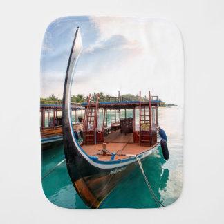 Snorkelling Boat Burp Cloth