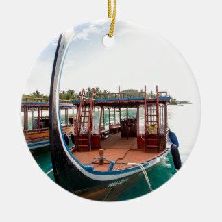 Snorkelling Boat Ceramic Ornament