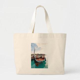 Snorkelling Boat Large Tote Bag