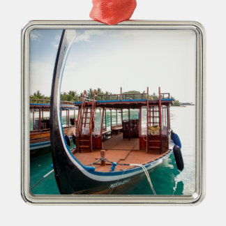 Snorkelling Boat Metal Ornament