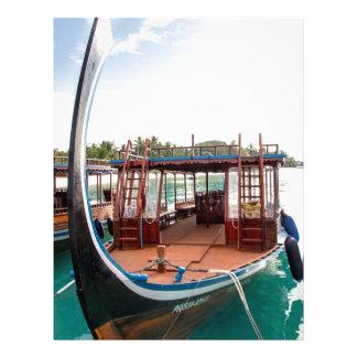 Snorkelling Boat Personalized Letterhead
